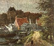 RUISDAEL, Jacob Isaackszon van View of Amsterdam (detail) h oil painting picture wholesale