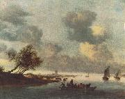 RUYSDAEL, Salomon van A Ferry Boat near Arnheim sg oil painting picture wholesale