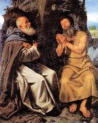 SAVOLDO, Giovanni Girolamo St Anthony Abbot and St Paul oil