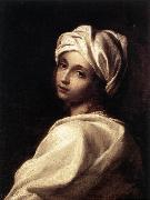 SIRANI, Elisabetta Portrait of Beatrice Cenci wr oil painting artist