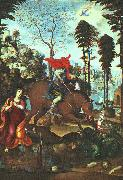 SODOMA, Il St. George and the Dragon fh oil painting picture wholesale