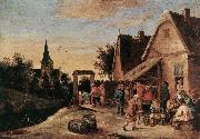 TENIERS, David the Elder Village Feast  sdt oil painting picture wholesale