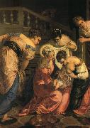 TINTORETTO, Jacopo The Birth of John the Baptist, detail ar oil painting picture wholesale