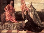 TIZIANO Vecellio Pope Alexander IV Presenting Jacopo Pesaro to St Peter nwt oil painting picture wholesale