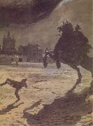 Alexander Benois The Bronze hoseman oil painting artist