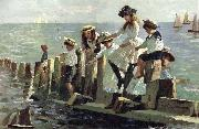 Alexander Mark Rossi The Little Anglers oil painting picture wholesale