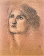 Burne-Jones, Sir Edward Coley Young Woman oil