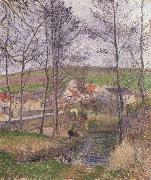 Camille Pissarro The banks of the Viosne at Osny oil painting picture wholesale