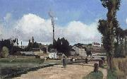 Camille Pissarro Banks of the Oise at Pontoise oil painting picture wholesale