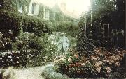 Claude Monet Monet in his garden at Giverny oil painting picture wholesale
