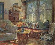 Colin Campbell Cooper Cottage Interior oil painting picture wholesale