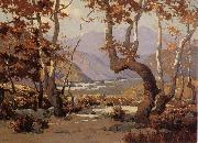 Elmer Wachtel Golder Autumn,Cajon Pass oil