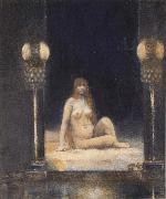 Fernand Khnopff Of Animality oil