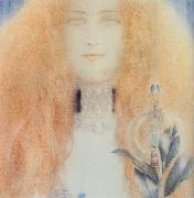 Fernand Khnopff Head of a Woman oil