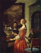 Frans van mieris the elder The Duet oil painting artist