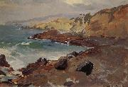 Franz Bischoff Untitled Coastal Seascape oil painting artist