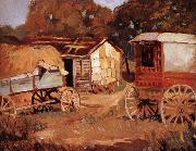 Grant Wood Carriage Business oil painting picture wholesale