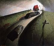 Grant Wood Death on the Ridge oil painting picture wholesale