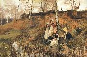 Hector Caffieri The Primrose Gatherers oil painting picture wholesale