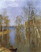Isaac Levitan Spring,Flood Water oil painting picture wholesale