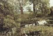 Isaac Levitan Overgrown Pond oil painting picture wholesale
