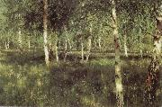 Isaac Levitan Birch Plantation oil painting picture wholesale
