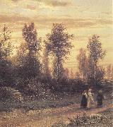 Ivan Shishkin Evening oil painting artist