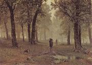 Ivan Shishkin Rain in an Oak Forest oil painting picture wholesale