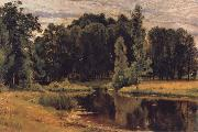 Ivan Shishkin The Pond in the old Flower gardens oil painting picture wholesale