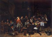 Jan Steen Prince-s Day,Interior of an inn with a company celebration the birth of Prince William III oil painting picture wholesale