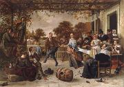 Jan Steen Dancing couple on a terrace oil painting picture wholesale