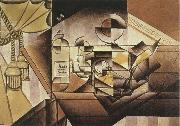 Juan Gris Watch and Bottle oil painting picture wholesale