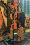 Juan Gris Fiddle and Guitar oil painting picture wholesale