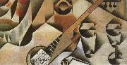 Juan Gris Banjor and cup oil painting picture wholesale