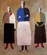Kasimir Malevich Three Women oil painting picture wholesale