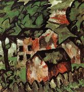 Kasimir Malevich The red house in view oil painting picture wholesale