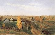 Levitan, Isaak Golden Autumn-village and small town oil painting picture wholesale