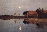 Levitan, Isaak Eventide-Moon oil painting picture wholesale
