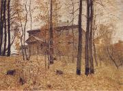 Levitan, Isaak Autumn-Garden Plot oil painting artist
