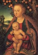 Lucas  Cranach The Virgin and Child under the Apple Tree oil painting picture wholesale