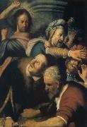 REMBRANDT Harmenszoon van Rijn Christ Driving the Money Changers from the Temple oil painting picture wholesale