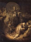 REMBRANDT Harmenszoon van Rijn The Adoration of The Magi oil painting picture wholesale
