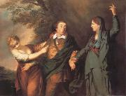 REYNOLDS, Sir Joshua Garrick Between tragedy and comedy oil painting picture wholesale