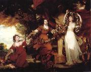 REYNOLDS, Sir Joshua Three Ladies adorning a term of Hymen oil painting picture wholesale