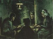 Vincent Van Gogh Four Peasants at a Meal (nn04) oil painting picture wholesale