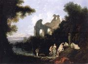 unknow artist Landscape,Ruins and Figure oil painting picture wholesale