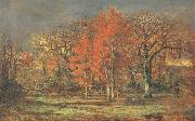 Charles leroux Edge of the Woods,Cherry Tress in Autumn oil painting artist