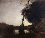 Corot Camille The morning star oil