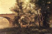 Corot Camille seine al bridge oil painting picture wholesale