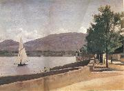 Corot Camille The quai give paquis in geneva oil painting picture wholesale